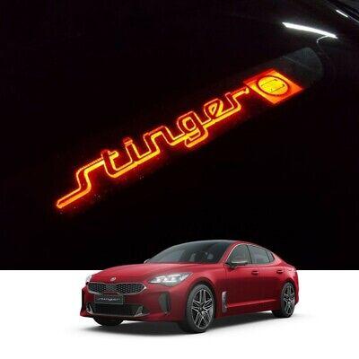 Auxiliary Rear Brake LED Light Mask Black Plate Logo for KIA 2018-2021 Stinger