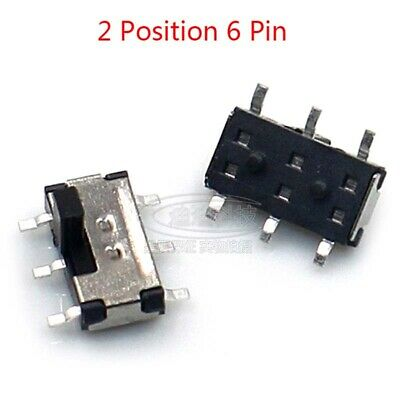 On-off Micro Slide Switch 2 Position 6 Pin Pcb Panel Microswitch Trough Switch