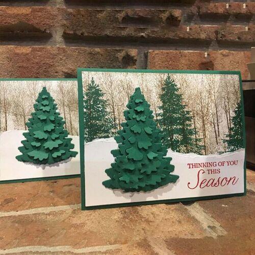 Christmas Tree Metal Cutting Dies DIY Craft Stencil Paper Ca