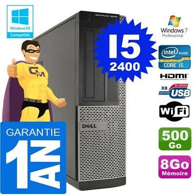 PC DELL 3010 DT Core I5-2400 Ram 8Go Disque 500 Go Wifi W7