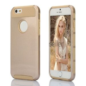 GOLD HYBRID RUGGED HEAVY DUTY SHOCKPROOF CASE COVER IPHONE 7, 7+