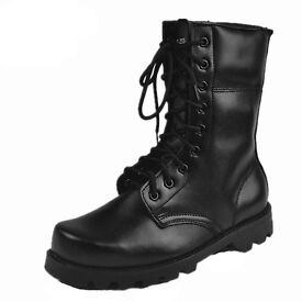 Brand new men's PU military combat boots size UK10 EU44