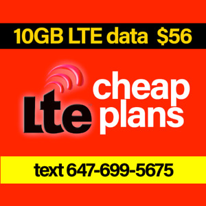 $56 - 10GB LTE, Unlimited Calling, Texting, Caller ID, Voicemail