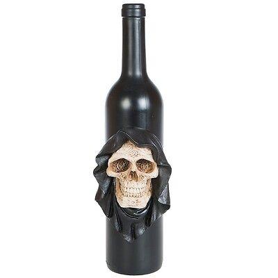 Flasche Weinflasche Glasflasche mit Totenkopf Skull Halloween Dekoration DOD362