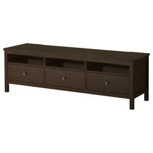 Ikea TV Bench Black-Brown 72 inch lenght