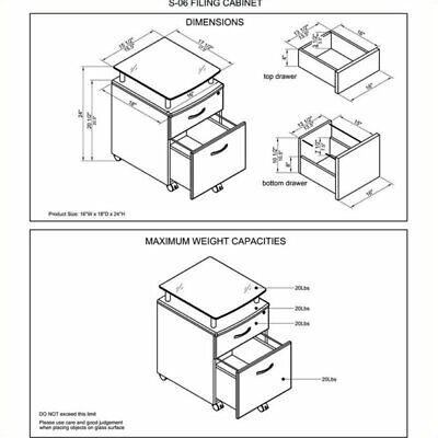 Scranton Co 2 Drawer Wood Mobile File Cabinet In Graphite