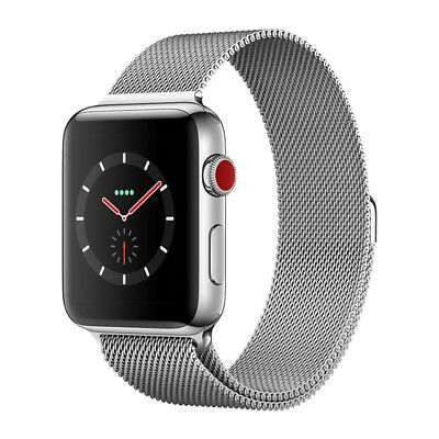 Apple Watch Series 3 Gps Cellular Stainless Steel 42Mm Case Milanese Loop Silver