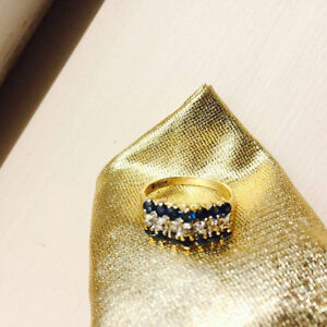 10K Gold Saphire ring (stairway to heaven)