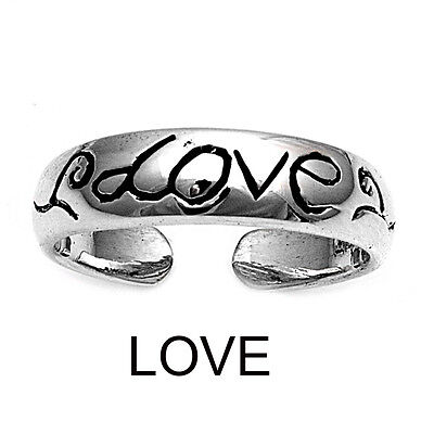 LOVE Adjustable Toe Ring - .925 Sterling silver