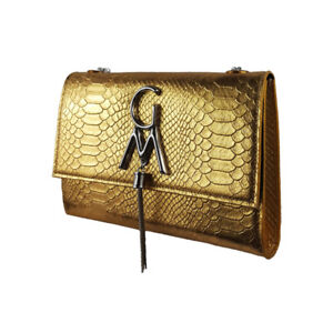 Gold exotic crossbody Bag from south america
