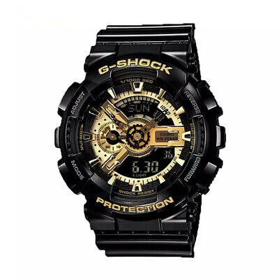NEW G-Shock Men's Watch Black Gold Dial Resin Chronograph Watch GA110GB-1A