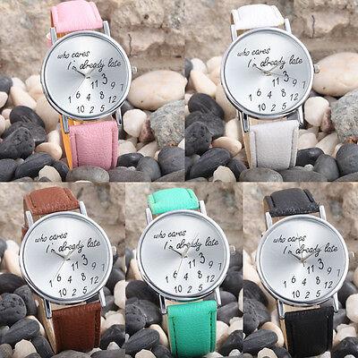 2018 New Casual Analog Quartz Watch Fashion Women Men PU Leather Wrist Watch s