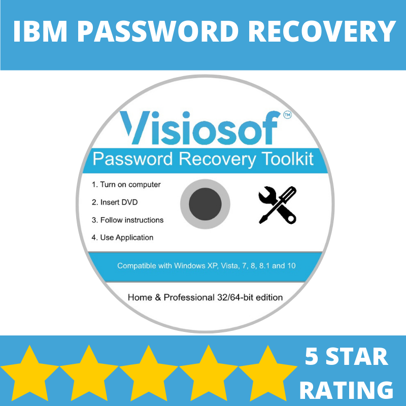 IBM Password Reset Disk Recovery Password Removal Windows XP VISTA 7 8 10