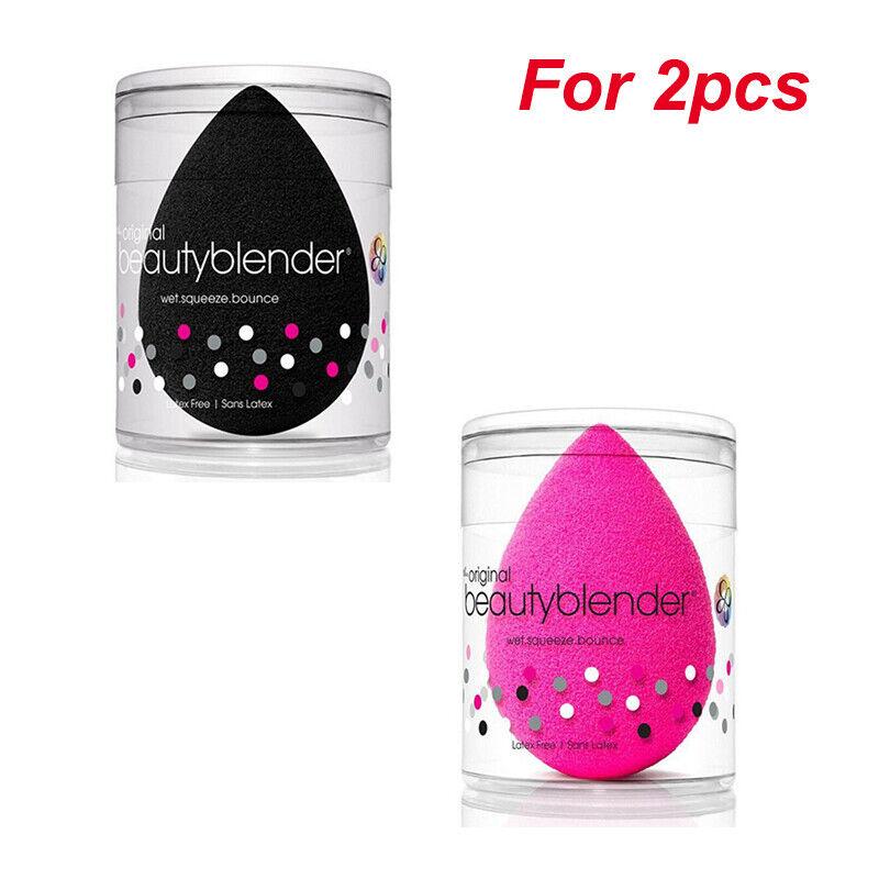 2PCS/set Original Beauty Blender Makeup Sponge Applicator Latex Free Pink/Black