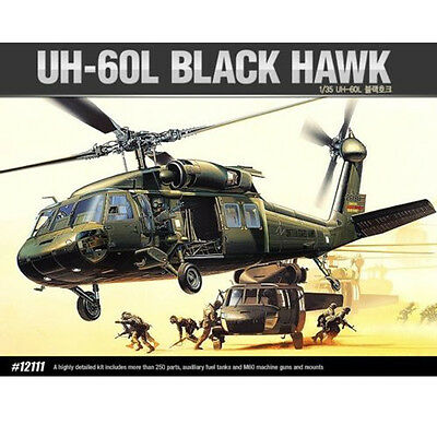 [Free Shipping] ACADEMY 1/35 UH-60L BLACK HAWK Helicopter Model Kit #12111