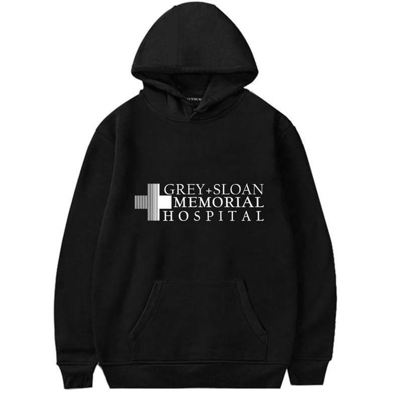 Greys Anatomy Hoodie Sweatshirt Grey Sloan Memorial Hospital