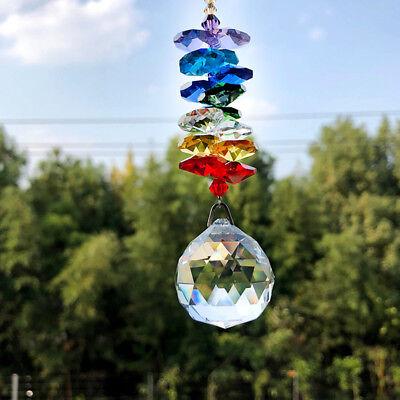 30MM Rainbow Crystal Ball Suncatcher Window Hanging Pendant Lamp DIY Home - Diy Suncatchers