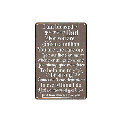 Metal Tin Sign best gift beautiful words for dad Bar Pub Home Vintage (Best Word For Beautiful)