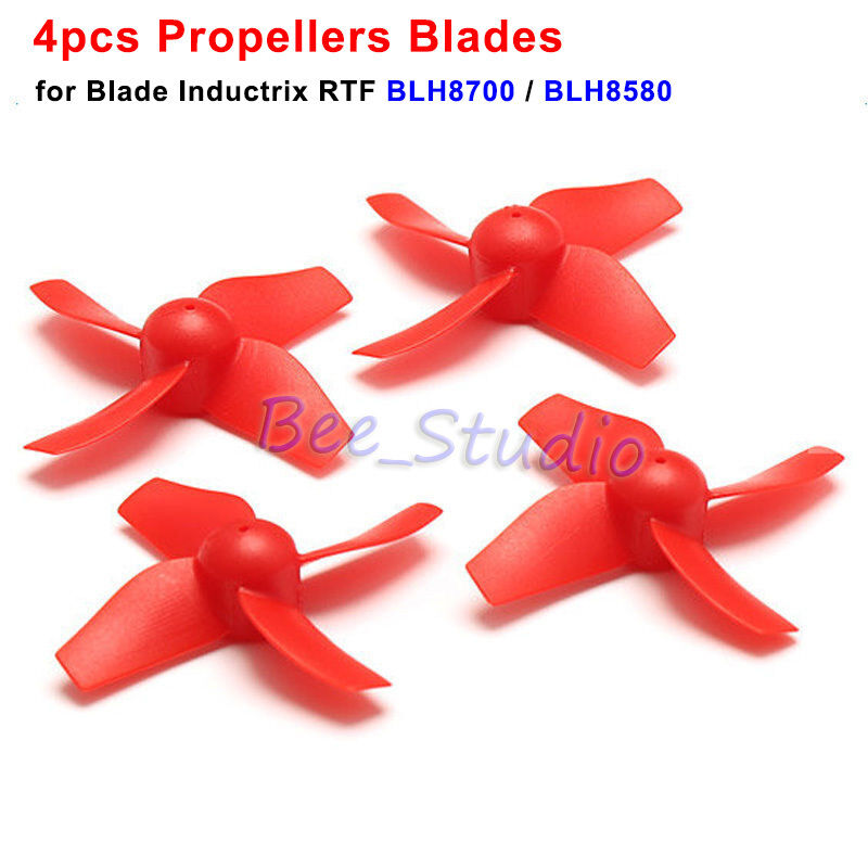 4PCS Red Propeller Blade Set for Inductrix Tiny Whoop BLH8700 BLH8580 JJRC H36