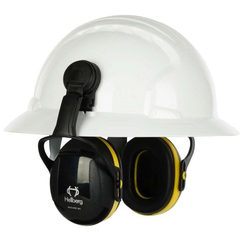 Secure 2 Full Brim Hard Hat Mount Passive Ear Muff NRR 24