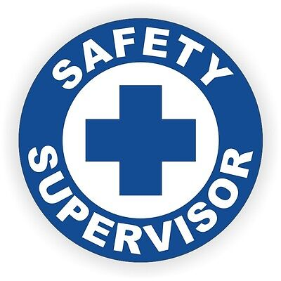 Safety Supervisor Hard Hat Decal / Label / Sticker Work Safely Manager Officer for sale  Shipping to India