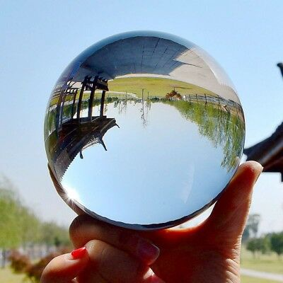60mm Sphere Decoration Clear Crystal Ball Photography Lens Photo Prop Lensball