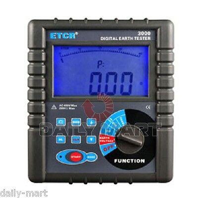 Etcr3000 Digital Ground Earth Resistance Tester Meter