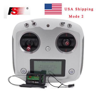 Flysky Fs I6s 2 4Ghz 10Ch 2A Rc Transmitter   Ia6b Receiver For Drone Quadcopter