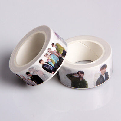 KPOP BTS Washi Tape Paper Maksing Cute DIY Scrapbook Stickers V Jungkook SUGA