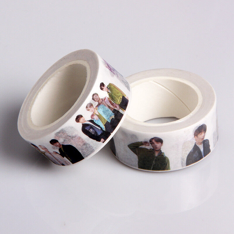 KPOP BTS Washi Tape Paper Maksing Cute DIY Scrapbook Stickers V Jungkook SUGA