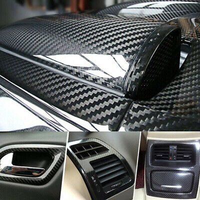 Carbon Fiber Vinyl Film Car Interior Wrap Stickers Auto Parts Accessories 12x60""
