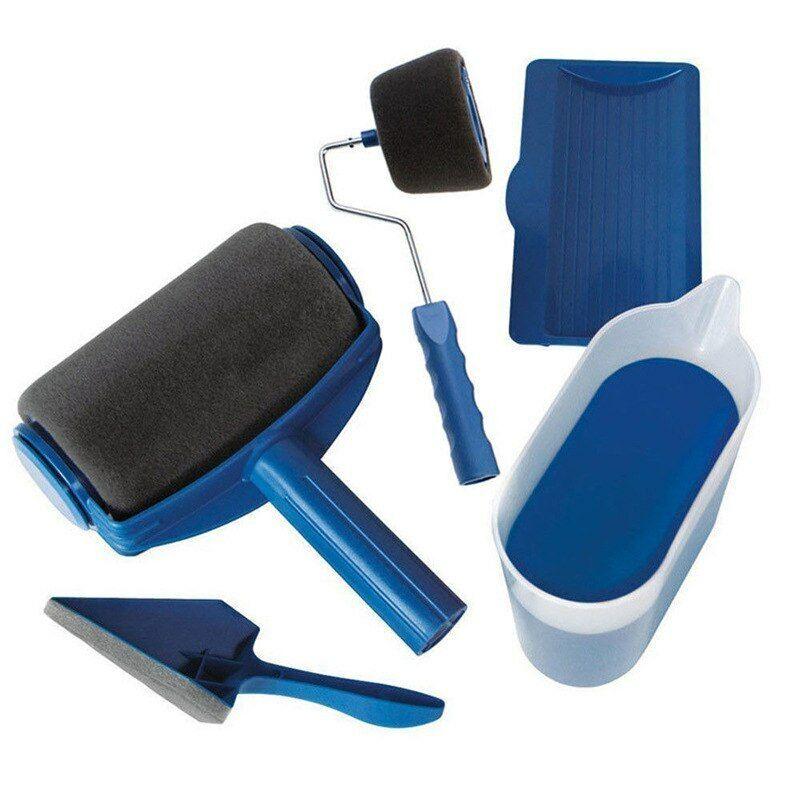 8 Pcs/Set DIY Paint Roller Brush Handle Tool Home Wall Roll Paint Brush Kits