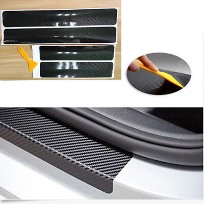Carbon Fiber Car Scuff Plate Door Sill 5d Sticker Panel Protector Accessories 4x