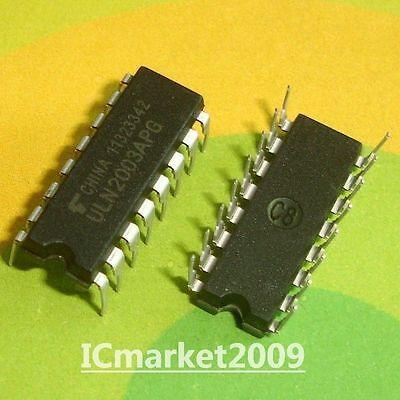 20 Pcs Uln2003apg Dip-16 Uln2003 Seven Darlington Arrays