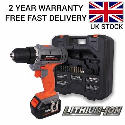 18V CORDLESS COMBI POWER DIY DRILL DRIVER ELECTRIC POWER SCREWDRIVER 70PC