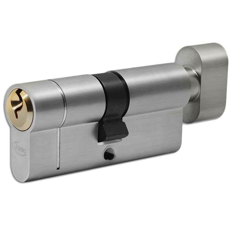 Asec Vital Dual Finish 6-Pin Euro Turn Cyl 52-52T (VT10049)