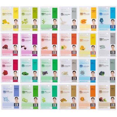 Dermal Korea Collagen Essence Full Face Facial Mask Sheet (24 Combo Pack)