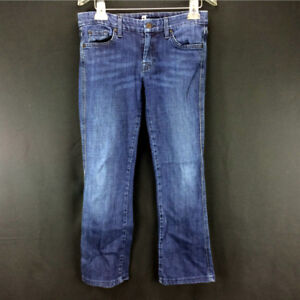 Womens Size 29 7 For All Mankind Jeans Boot Cut Low Rise Stretch