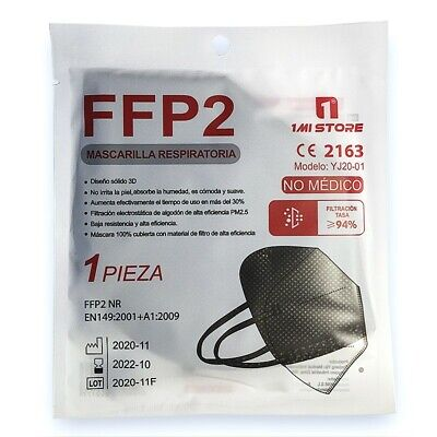 10 x 1MI STORE Schutzmaske FFP2 Maske Atemschutzmaske Maske in SCHWARZ