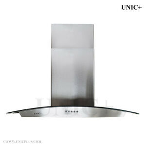 "30"" Wall Mount Kitchen Range Hood with tempered glas (Open box)"