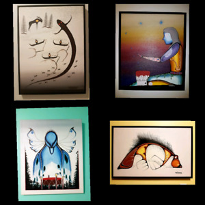 Collection of native woodland paintings