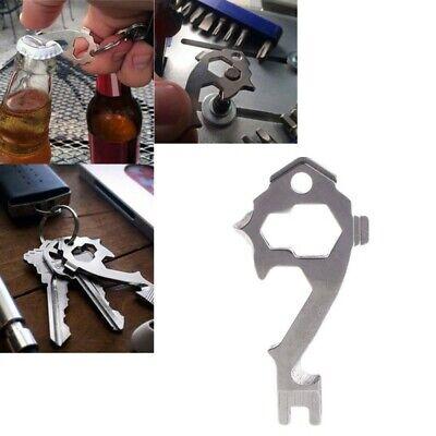 20in1 Key Chain Stainless Keychain Keyring Pocket Bottle Opener EDC Multi Tool
