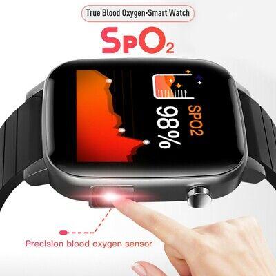 2020 Touch Smart Watch Women Men Heart Rate +True Blood Oxygen+ Body Temperature