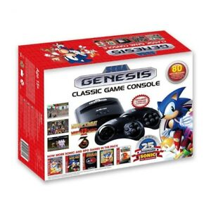 BRAND NEW IN BOX SEGA GENESIS CLASSIC GAME CONSOLE PLUS 80 GAMES