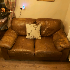 Brown leather sofa- Free