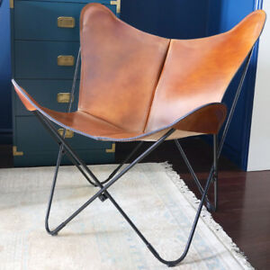 SALE!!! Mid Century Polo Leather BKF Butterfly Chair