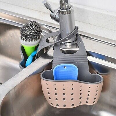 Kitchen Organiser Sink Caddy Basket Dish Cleaning Sponge Hol