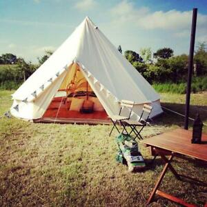 Outdoor Luxury Canvas Camping Bell Tent Survival Hunting 13/16FT(022365/022378)