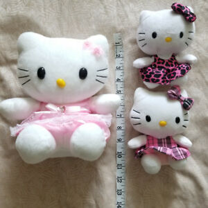 Hello Kitty plush toys.