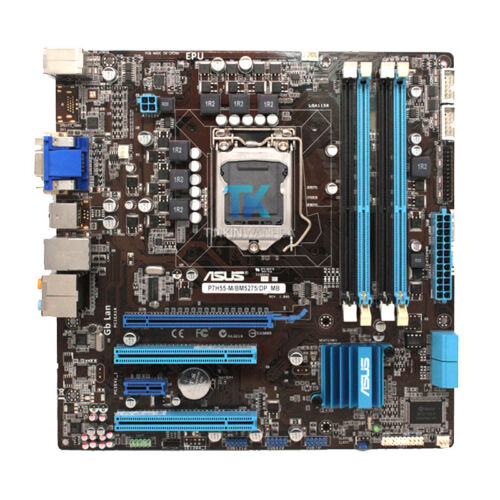 Motherboard  for ASUS P7H55-M BM5275 LGA1156 DDR3 MicroATX with I//O Shield